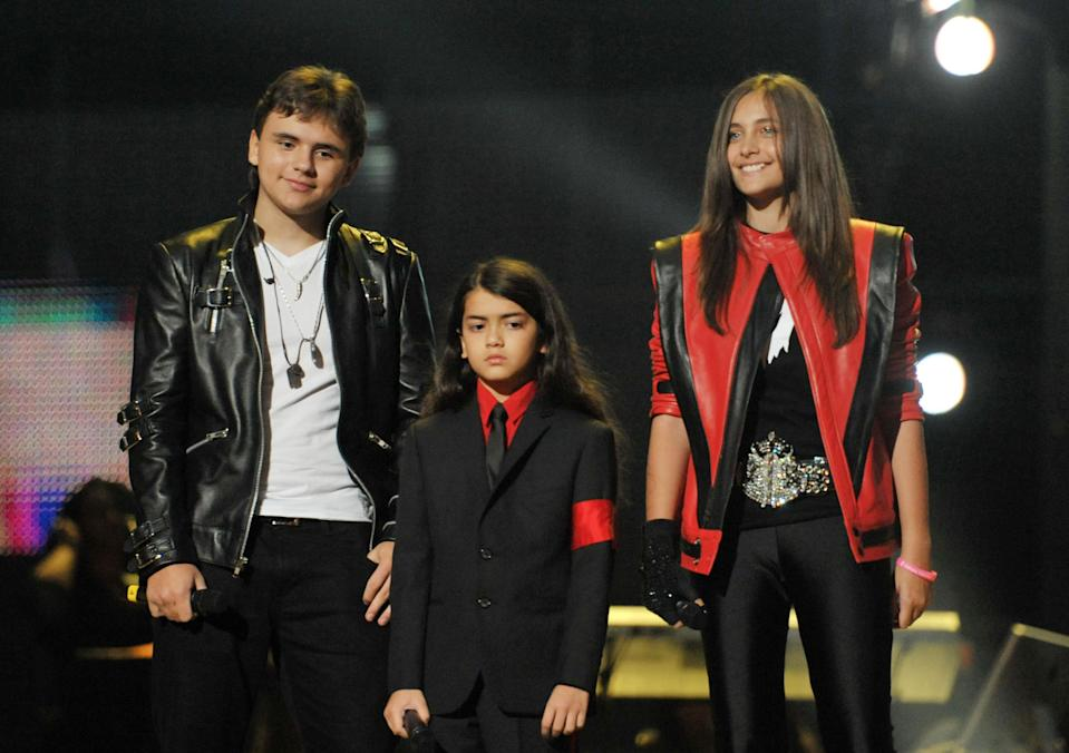 Prince, Blanket and Paris at the Michael Forever Tribute Concert in 2011. (Photo: Getty Images)
