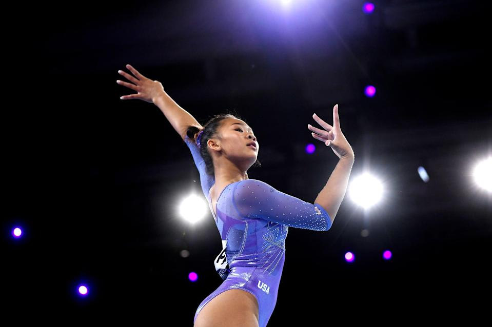 """<p><strong>Sport:</strong> Gymnastics<br> <strong>Country:</strong> USA</p> <p>Sunisa Lee was already touted as a <a href=""""https://www.popsugar.com/fitness/who-is-sunisa-lee-46707131"""" class=""""link rapid-noclick-resp"""" rel=""""nofollow noopener"""" target=""""_blank"""" data-ylk=""""slk:rising star for US Gymnastics"""">rising star for US Gymnastics</a> even before her performance at the 2019 World Championships. There, she bagged a bronze on the uneven bars and a silver on floor, bested only by the GOAT herself, Simone Biles. In 2020, she nabbed an all-around silver at the national championships. It's a solid foundation heading into the Olympic Trials, where Lee will be competing against a stacked American field for one of four coveted slots.</p>"""