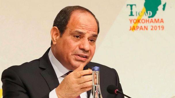 PHOTO: African Union Chairperson and Egypts President Abdel Fattah al-Sisi answers a question during a joint press conference of the seventh Tokyo International Conference on African Development (TICAD) in Yokohama on Aug. 30, 2019. (Toshifumi Kitamura/AFP/Getty Images)