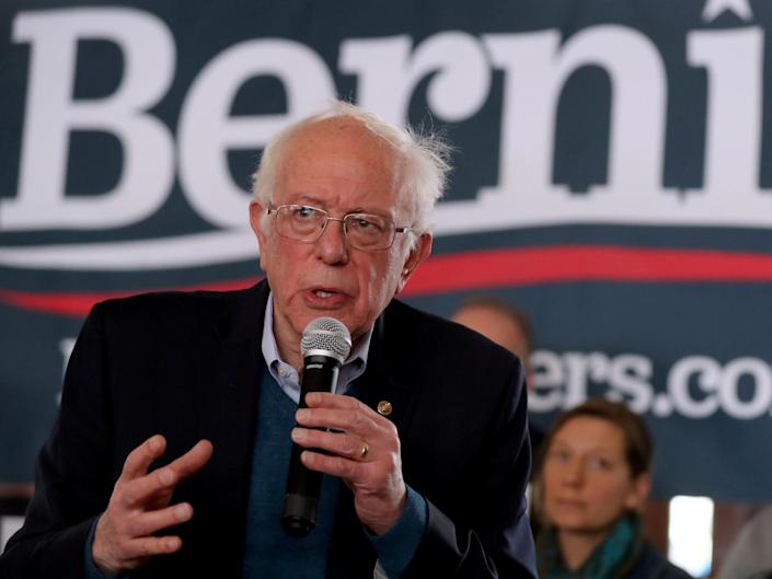 Mr Sanders leads the polls in Iowa, where the first vote of the primaries will take place on 3 February: Reuters