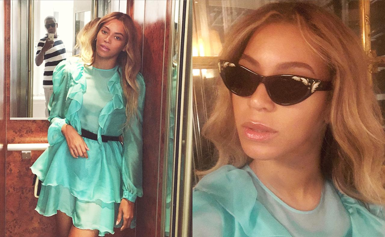 Beyonce & Blue Ivy Don Matching Gucci Outfits