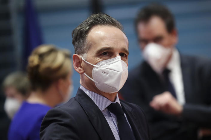 German Minister of Foreign Affairs Heiko Maas is seen during a cabinet meeting at the German chancellery, January 20, 2021 in Berlin, Germany. / Credit: Hayoung Jeon/Pool/Getty