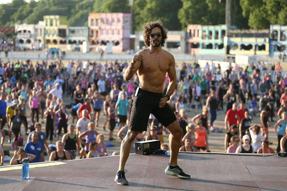 Joe Wicks leads an attempt to break the Guinness World Record for largest HIIT Workout Alamy Stock Photo