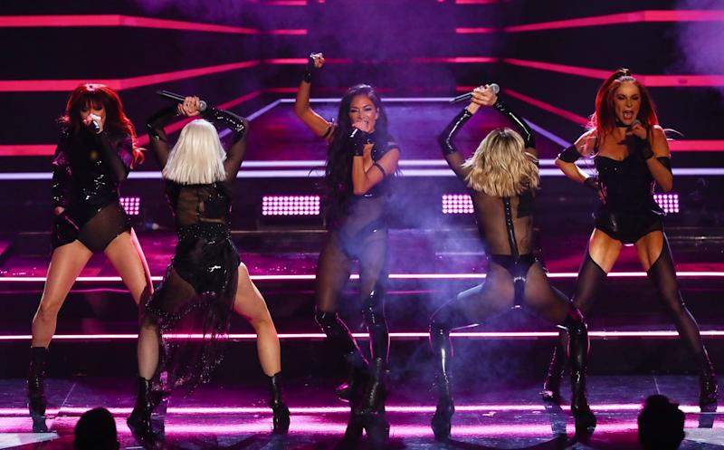 The Pussycat Dolls performed classic hits like Buttons, Don't Cha and When I Grow Up, as well as new track React (Photo: Dymond/Thames/Syco/Shutterstock)