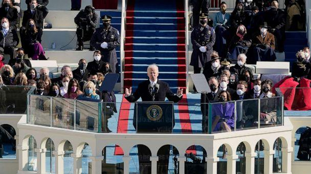 PHOTO: President Joe Biden speaks during the 59th Presidential Inauguration at the U.S. Capitol in Washington, Jan. 20, 2021. (Patrick Semansky/AP)