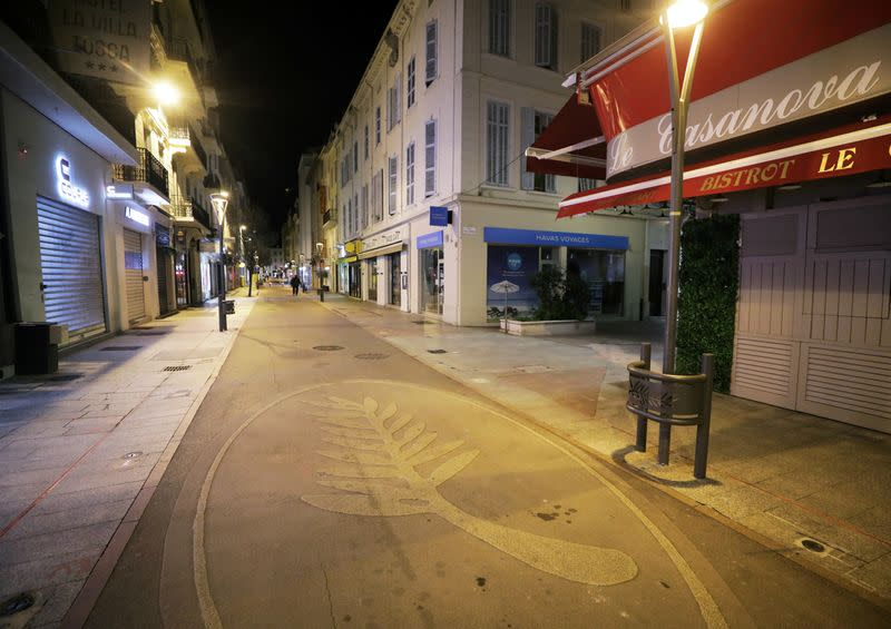 FILE PHOTO: France enforces 6 p.m curfew to stem the spread of the COVID-19, in Cannes