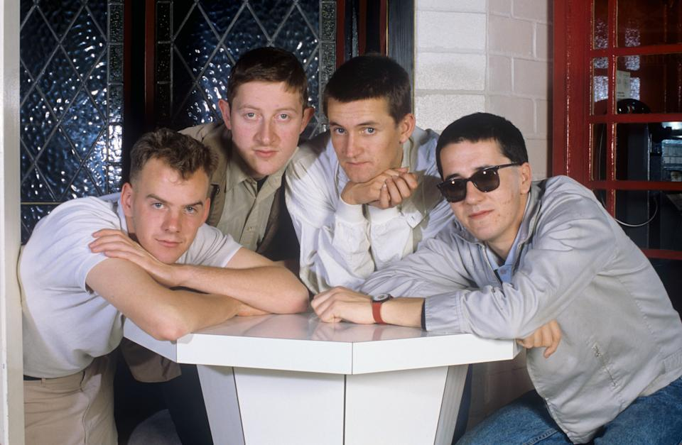 The Housemartins (mit Sänger Paul Heaton) on 20.08.1986 in Bochum. (Photo by Fryderyk Gabowicz/picture alliance via Getty Images)