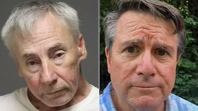 Pictured are Daniel Dobbins (left) and John Linartz (right) who were among the six caught up in the lewd sex act.