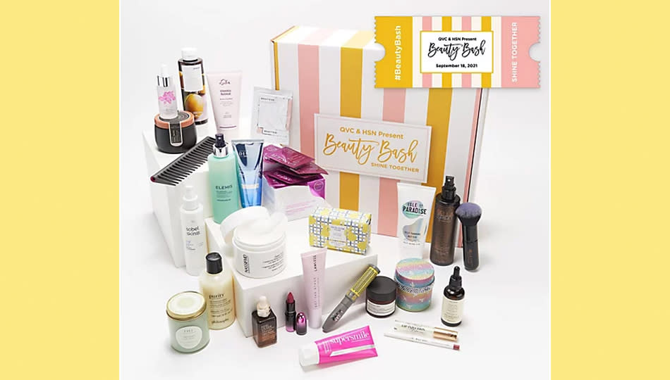This Beauty Discovery Box is packed with $500 worth of goodies from all your favorite brands – you can win it at Beauty Bash! (Photo: QVC/HSN)