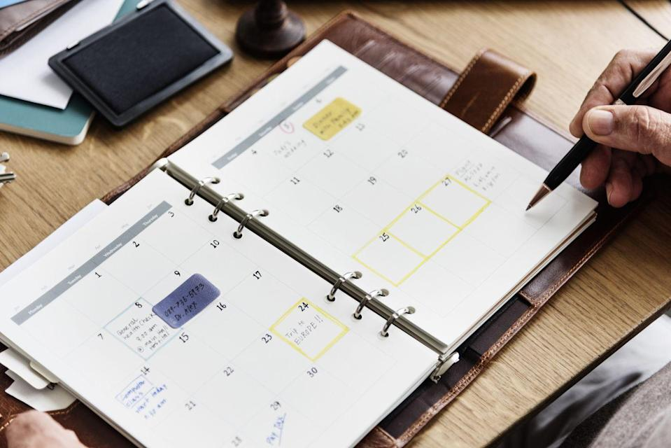 """<p>Forget Post-its and scattered notes. Morgenstern recommends merging all of your tasks and appointments into one calendar or scheduling system that makes you comfortable. """"A to-do that is not integrated into a schedule rarely gets done,"""" she says.</p>"""