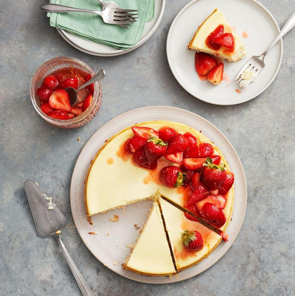 """<p>Strawberry and coconut aren't combined often, but this cheesecake proves just how amazing the pairing can be.</p><p><em>Get the recipe from <a href=""""https://www.goodhousekeeping.com/food-recipes/dessert/a26783658/strawberry-coconut-crust-cheesecake-recipe/"""" rel=""""nofollow noopener"""" target=""""_blank"""" data-ylk=""""slk:Good Housekeeping"""" class=""""link rapid-noclick-resp"""">Good Housekeeping</a>. </em></p>"""