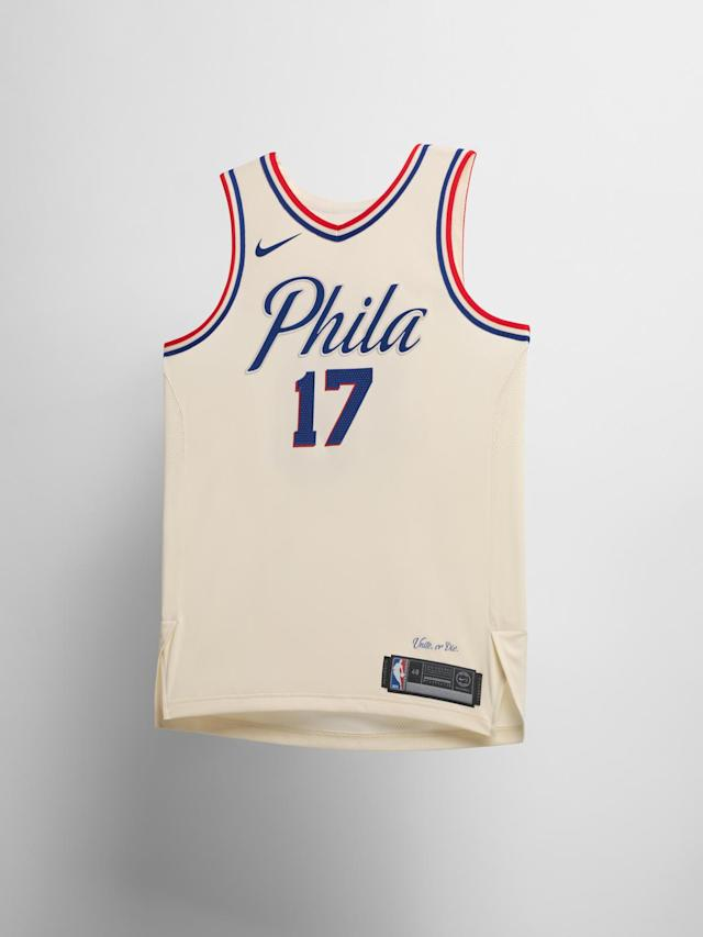 Philadelphia Sixers City uniform. (Nike)
