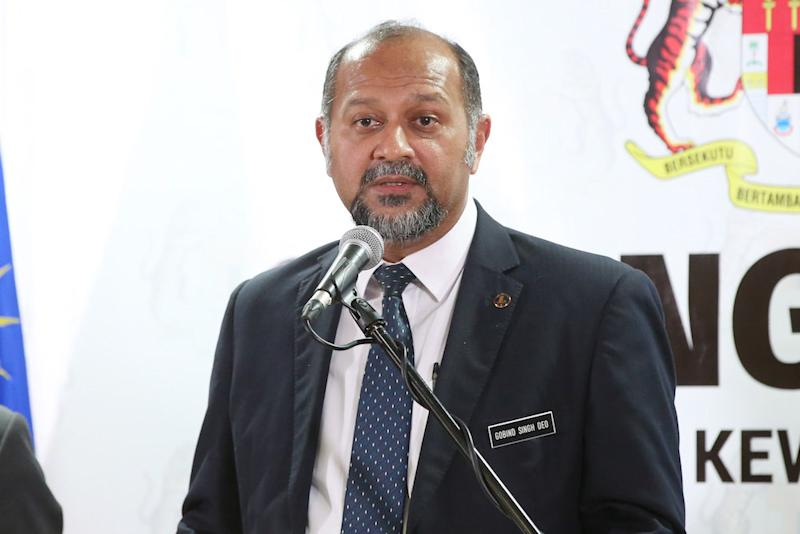 Responding to users on Twitter alerting him to the issue, Gobind said he has been informed by the relevant agencies, which he said were working to restore the local Domain Name System (DNS) to full functionality. — Picture by Azinuddin Ghazali