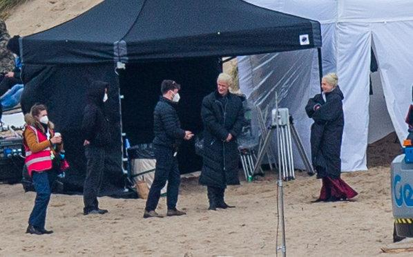 Matt Smith dons a blonde wig as Prince Daemon Targaryen (SWNS)
