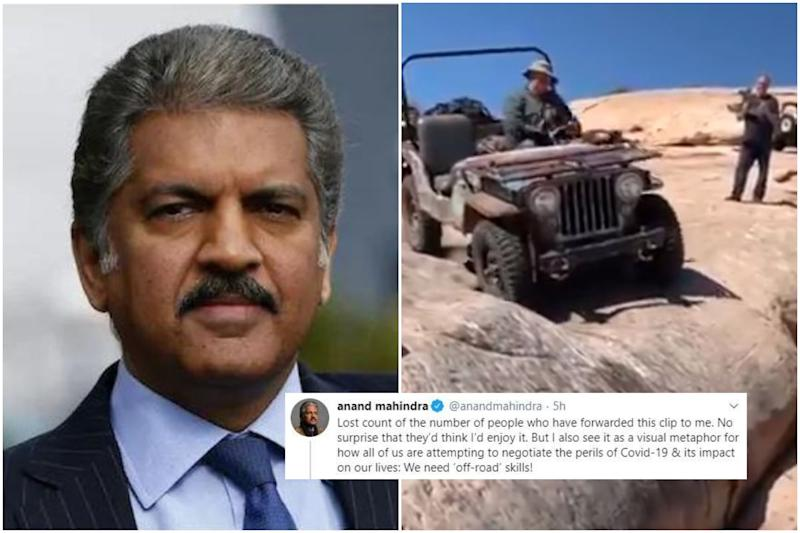 Anand Mahindra has an 'Off-road' Advice to Sail through Covid-19 Crisis