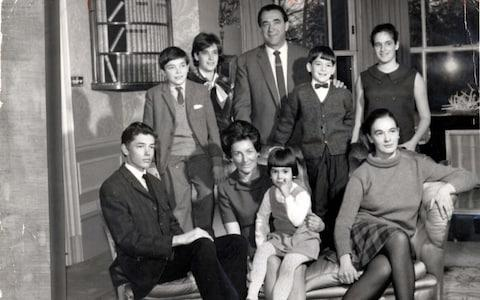 The Maxwell clan, 1961 - Credit: Rex Features