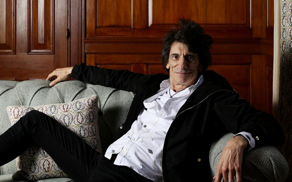 Ronnie Wood says he knits endless scarves - Clara Molden for The Telegraph