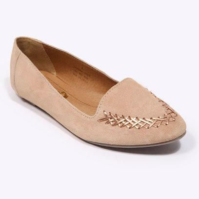 Peach woven slippers by Urban Outfitters: Flat Shoes for the Weekend