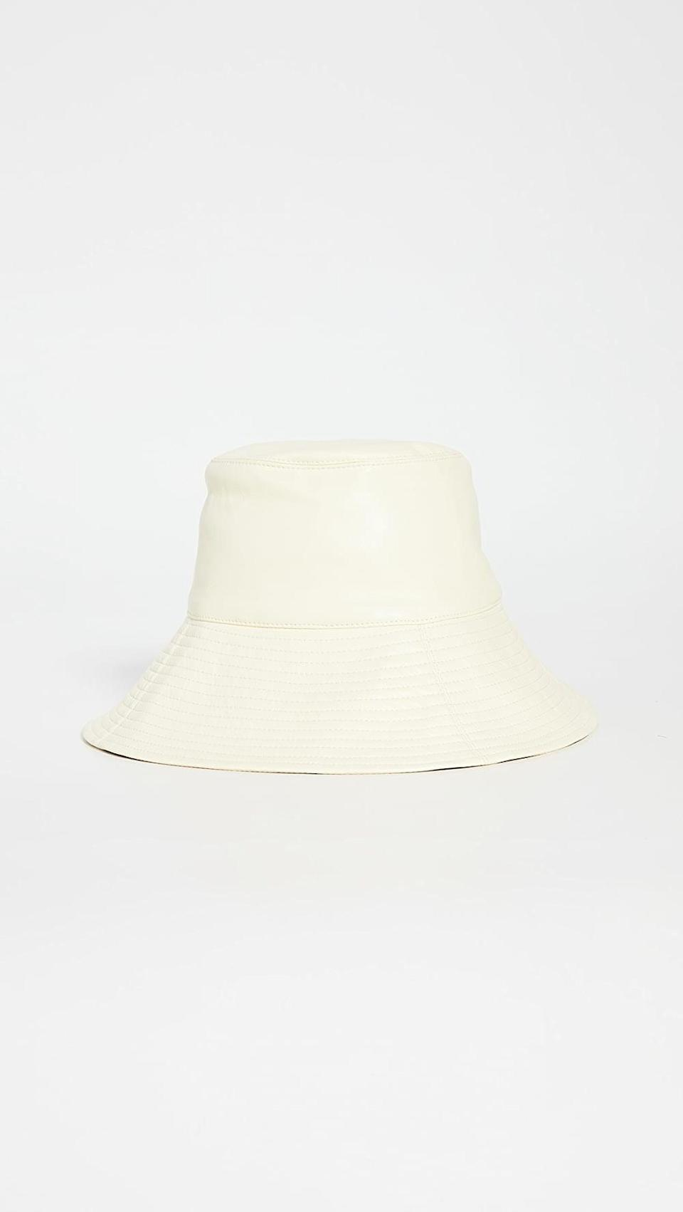 <p>This <span>Nanushka Serge Hat</span> ($325) is so on-trend.</p>