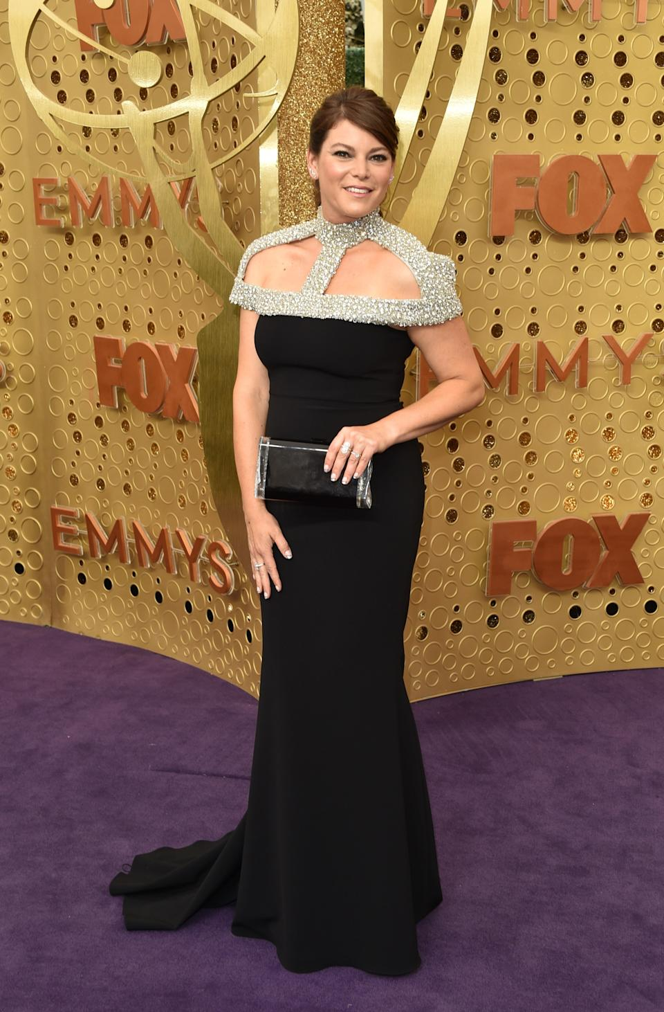 """<h1 class=""""title"""">Gail Simmons in Christian Siriano and Le Vian jewelry</h1><cite class=""""credit"""">Photo: Getty Images</cite>"""