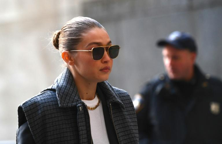 Model Gigi Hadid arrives at Manhattan Criminal Court, where she was excused from serving as a juror in the trial of disgraced movie mogul Harvey Weinstein (AFP Photo/Johannes EISELE)