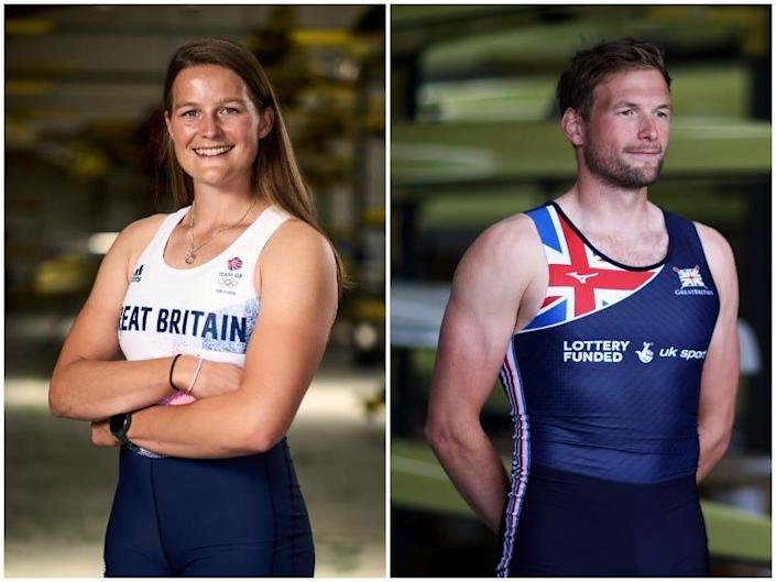 Olympians Emily Ford and Tom Ford in a side by side image