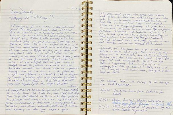 PHOTO: A page from the journal of Judge Esther Salas. (Courtesy Judge Esther Salas)