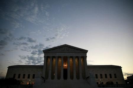 FILE PHOTO: The exterior of the U.S. Supreme Court building in Washington