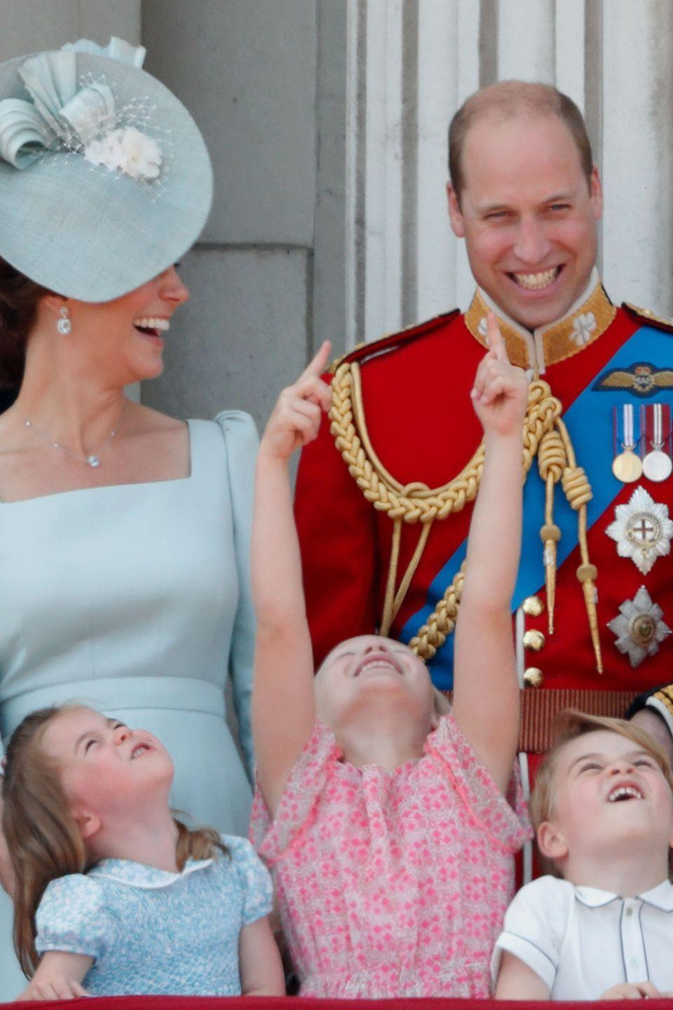 "<p>The Duchess laughs with her family on the balcony of Buckingham Palace during the <a href=""https://www.harpersbazaar.com/celebrity/latest/g21245781/trooping-the-colour-2018-photos/"" rel=""nofollow noopener"" target=""_blank"" data-ylk=""slk:Trooping the Colour 2018"" class=""link rapid-noclick-resp"">Trooping the Colour 2018</a>.</p>"