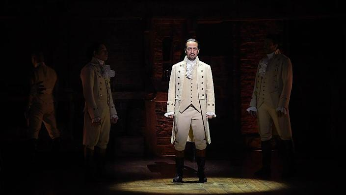Lin-Manuel Miranda's smash-hit musical on founding father Alexander Hamilton is set to expand its sights beyond US shores (Disney+)