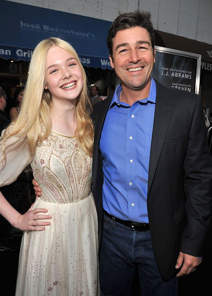 "<a href=""http://movies.yahoo.com/movie/contributor/1808461888"">Elle Fanning</a> and <a href=""http://movies.yahoo.com/movie/contributor/1800236193"">Kyle Chandler</a> at the Los Angeles premiere of <a href=""http://movies.yahoo.com/movie/1800063512/info"">Super 8</a> on June 8, 2011."