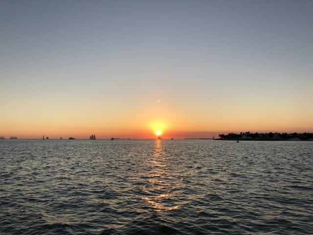 The sunset from Mallory Square (Credit: Pras Subramanian)
