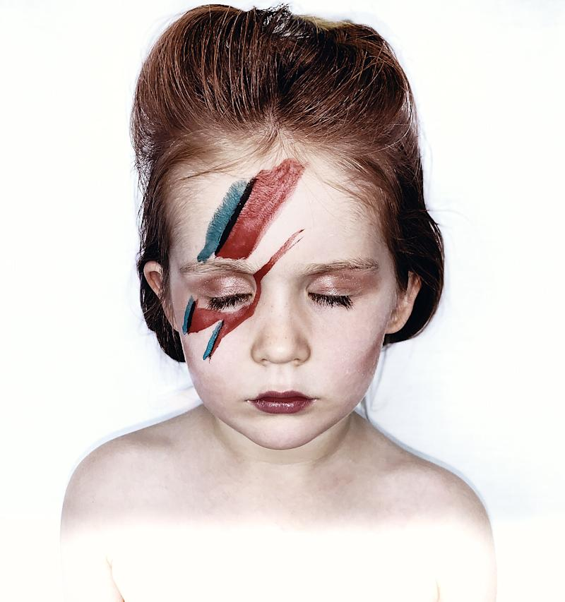 Los Angeles mother Steph Girard is recreating iconic music album covers with her daughter as inspiration. (Photo: Steph Girard Photo)