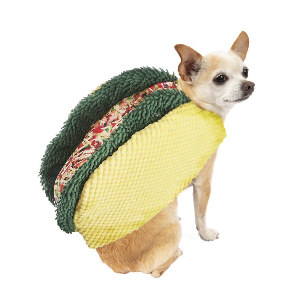Way To Celebrate Halloween Taco Costume for Dogs. (Photo: Walmart)