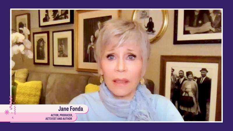 UNSPECIFIED - SEPTEMBER 26: In this screengrab Jane Fonda participates in Supercharge: Women All In, a virtual day of action hosted by Supermajority, on September 26, 2020 in United States. (Photo by Getty Images/Getty Images for Supermajority)