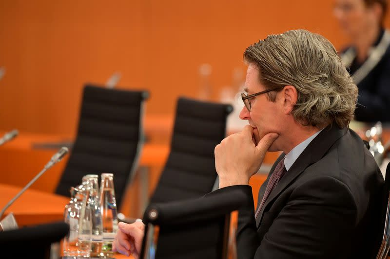The weekly cabinet meeting at the Chancellery in Berlin