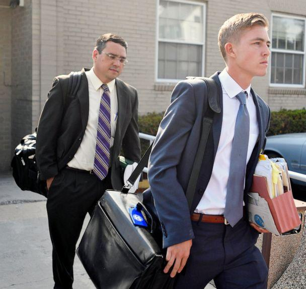 PHOTO: Beta Theta Pi member  Luke Visser leaves the Centre County courthouse in this July 11, 2017 file photo in Bellefonte, Pa. (Abby Drey/Centre Daily Times via AP, FILE)