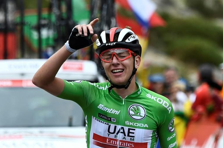 Tadej Pogacar won the 20th stage, his third, to claim the white jersey and a top three spot