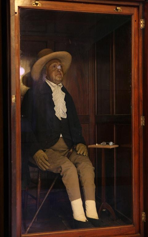 The auto-icon which Bentham insisted be made after his death