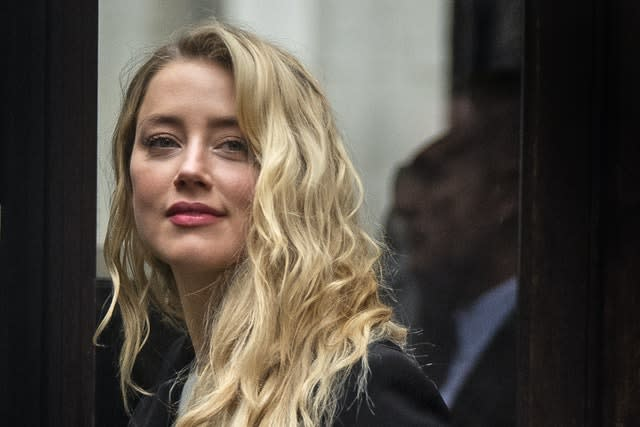 Actress Amber Heard was the key witness for the defence in her ex-husband's libel claim against NGN (Victoria Jones/PA)