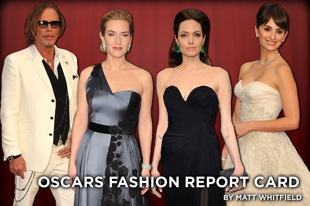 From Angelina Jolie to Mickey Rourke and everyone in between, take a peek at which stars made the grade and whose fashion failed at the 81st Academy Awards.