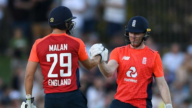 Eoin Morgan gave Dawid Malan the impetus to cut loose and race to a record-breaking ton in England's T20 victory over New Zealand on Friday.