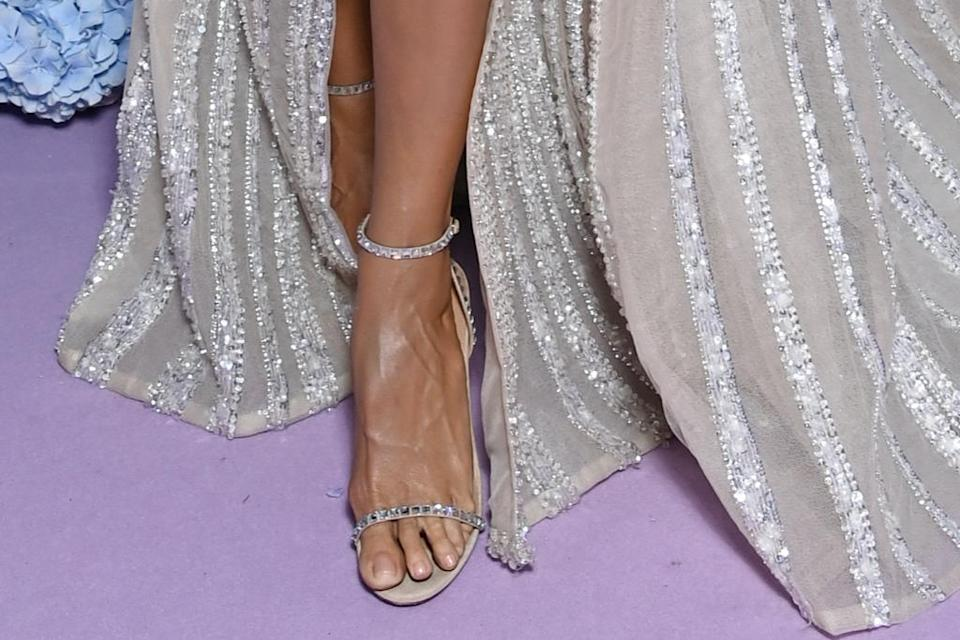 A closer look at Klum's sandals. - Credit: Courtesy of LuisaViaRoma