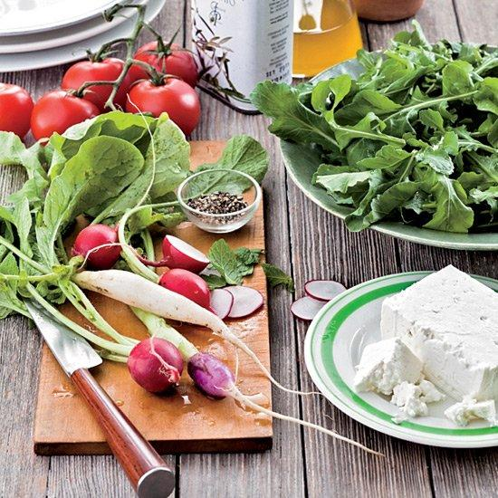 "<p>A classic Greek salad has tomatoes and feta; this version by chef André Natera of Dallas's Fairmont Hotel also takes advantage of the mint and arugula that grow so well in his roof garden.</p><p><a href=""https://www.foodandwine.com/recipes/greek-style-tomato-salad-with-mint-and-feta"">GO TO RECIPE</a></p>"