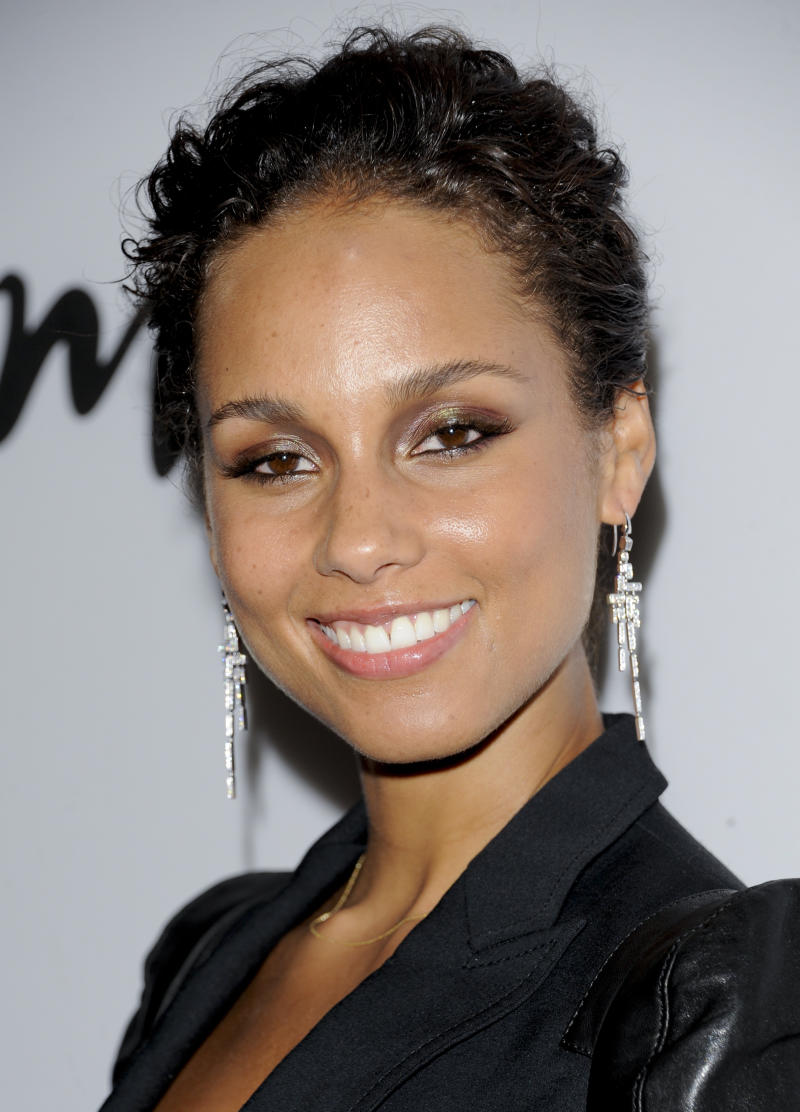 "FILE - In this Sept. 26, 2011 file photo, Alicia Keys attends the Lifetime and Sony Pictures Television premiere screening ""Five"" at Skylight SoHo in New York. Keys will produce as well as compose original music for the Broadway premiere of ""Stick Fly,"" opening Dec. 8, at the Cort Theatre in New York.  (AP Photo/Evan Agostini, file)"