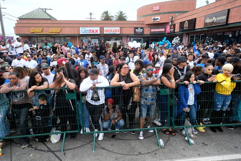 Nipsey Hussle procession | MediaNews Group via Getty Images