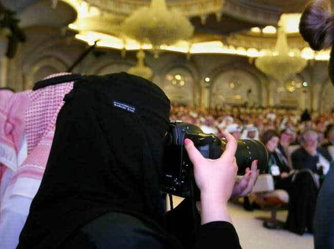 Saudi investment forum opens, clouded by writer's death