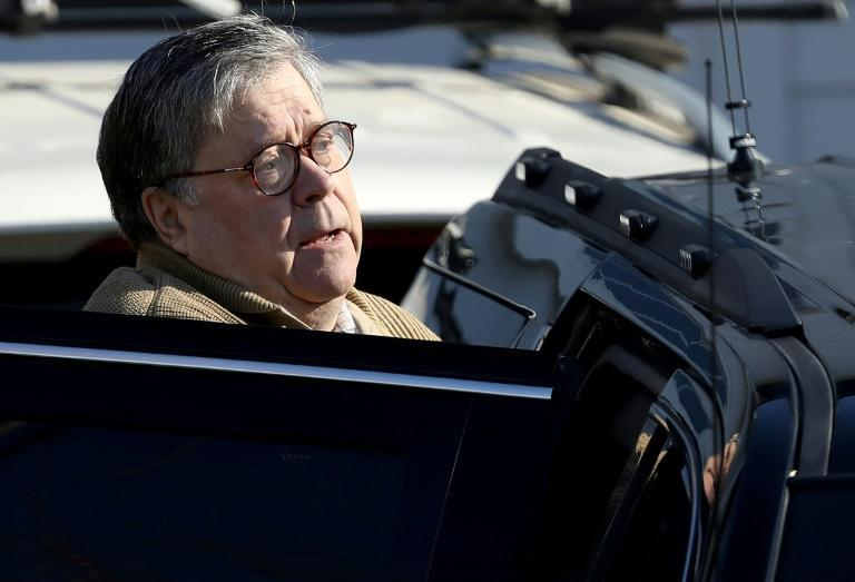US Attorney General Bill Barr departs his home on March 23, 2019 in McLean, Virginia