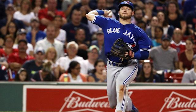 Blue Jays third baseman Josh Donaldson, who looked uncomfortable making throws on Thursday, is dealing with a dead arm according to his manager John Gibbons.