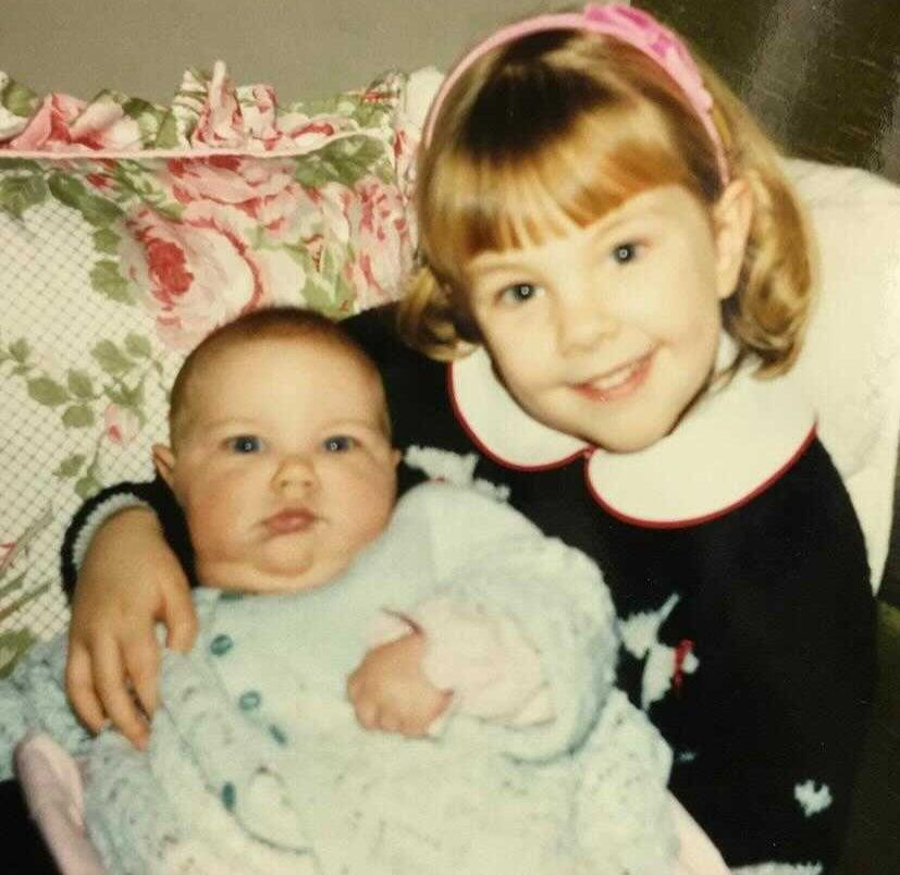 Suzannah with her little sister Clara (Suzannah Ramsdale)